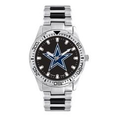 Men's Dallas Cowboys Watch Brushed Alloy Timepiece
