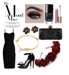 """""""The Mood Maker: Romatic Date Night"""" by fizaqaisar on Polyvore featuring MaxMara, Boohoo, Chantecler, Stila, Alexander McQueen and Themoodmaker"""