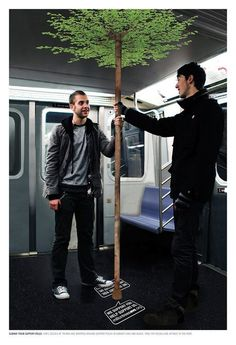 Brilliant advertsising in the metro. http://www.arcreactions.com/accents-web-design-project/