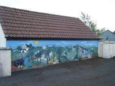 Beautiful mural in school yard in Errill, Co. Laois