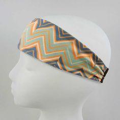High Performance Sweat-Wicking Headband - Ziggy Zaggy Marine Pattern