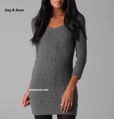 Платье с аранами от Rag & Bone - СХЕМЫ http://mslanavi.com/2017/03/plate-s-aranami-ot-rag-bone/