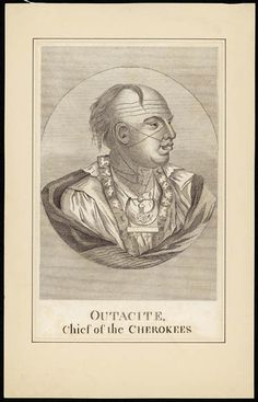Outacite, Chief of the Cherokees. ca. 1731. Library and Archives Canada, Acc. No. R9266-2833 Peter Winkworth Collection of Canadiana.
