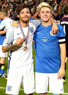 Niall Horan And Louis Tomlinson Soccer Aid