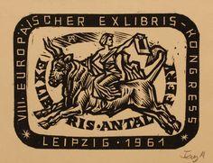 Exlibris by Antal Fery for Antal Fery