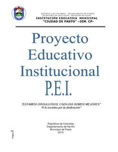 P.E.I.  proyecto educativo institucional