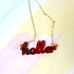 Holler necklace
