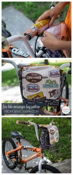 Bike Messenger Bag - Free Sewing Pattern!