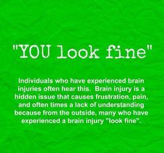Concussion Quotes Inspiration Reality Of Brain Injury  Brain Injury Pictures & More  Pinterest . 2017