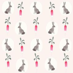 Bunny & Radish pattern by Julianna Swaney on Flickr.Julianna Swaney