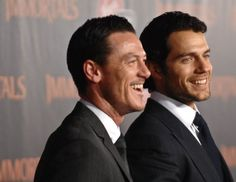 Henry Cavill and Luke Evans at event of Immortals