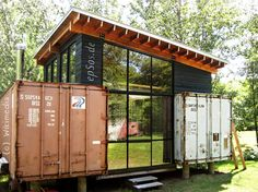 Simple shipping container house design.