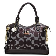 Coach Legacy Pinnacle Lowell In Signature Large Coffee Satchels ADV