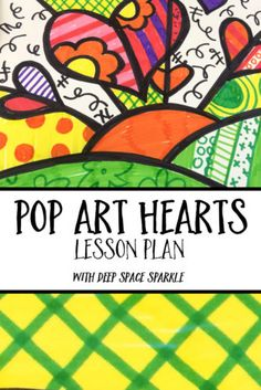 Romero Britto Inspired Pop-Art Hearts Lesson Plan created by @patty_palmer2. Use Faber-Castell Premium Children's Art Products to create gorgeous and colorful hearts! Perfect for Valentine's Day!