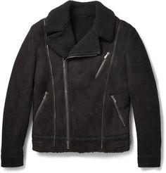 Bottega Veneta Shearling Biker Jacket | MR PORTER