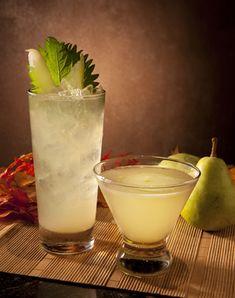 Pear Martini  1.25 oz. Absolut Pears vodka  .5 oz. St. Germain Elderflower liqueur  1 oz. pear nectar  .25 oz. fresh lemon juice  Splash Prosecco