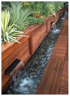 Steal these cheap and easy landscaping ideas for a beautiful backyard. Get our best landscaping ideas for your backyard and front yard, including landscaping design, garden ideas, flowers, and garden design. Water Features In The Garden, Outdoor Water Features, Wall Water Features, Garden Borders, Wood Garden Edging, Wooden Garden, Unique Gardens, Small Gardens, Water Gardens