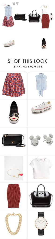 """""""Untitled #1"""" by marshaagitta ❤ liked on Polyvore featuring ElevenParis, Alice + Olivia, Converse, Prada, Disney, ASOS, H&M, Pull&Bear, Givenchy and Michael Kors"""