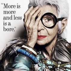 "miamoretti on Instagram: ""Don't be a bore  #irisapfel #nyfw"""