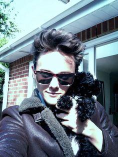 Tyger Drew-Honey and his cute dog Regy :)