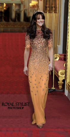 ROYAL STYLIST — Chinese State Banquet The Duchess of Cambridge is...