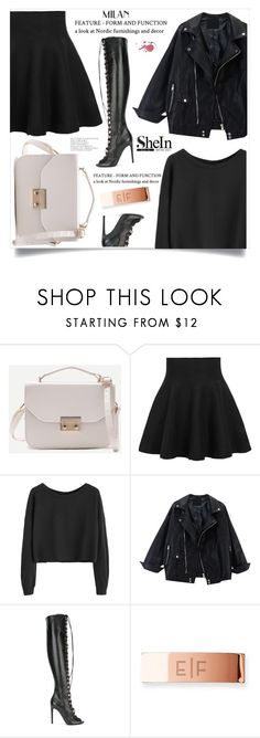 """""""Leather Transformation"""" by violet-peach ❤ liked on Polyvore featuring Giambattista Valli and Mark & Graham"""