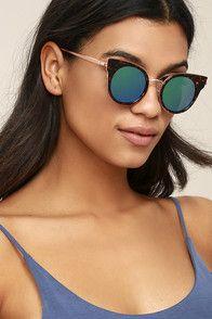 Pretty Sight Tortoise and Blue Mirrored Sunglasses
