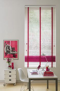 Our White U0026 Pink Wooden Blinds Are Made From Hardwood Ramin And Sourced  From Sustained Forest