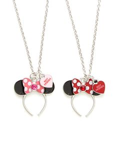 Look what I found on #zulily! Minnie Mouse Ear Necklace - Set of Two by Mickey Mouse & Minnie Mouse #zulilyfinds