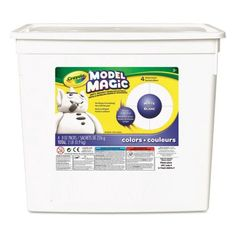 This Crayola Model Magic Tub has the unique modeling material in all white. Model magic is an air-dry modeling material that allows kids to create keepable arts and crafts. Model Magic, Play Doh, Magic Sets, Crafts For Kids, Arts And Crafts, Crayola, Hobbies And Interests, Cute Clay, Diy Slime