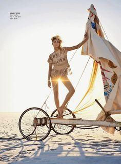 A Bit of Sass: Edge of Forever: Anja Rubik for Vogue Australia