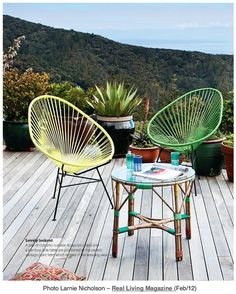Round Up Of Great Patio Furniture Including This Acapulco Chair