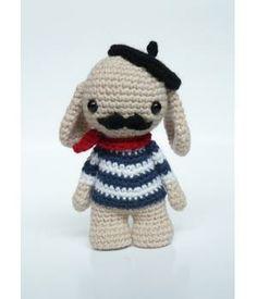 Handmade Monsieur Moustache made by #MadebyMaike
