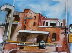 Carmen Stanescu - Google+ Oil On Canvas, Las Vegas, Google, Watercolor Painting, Last Vegas