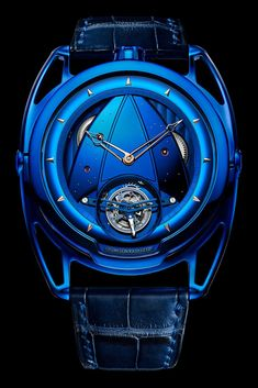 The 19 Best Cutting-Edge Timepieces for the Futuristic Watch Lover De Bethune – Art blaues Tourbillon Best Watches For Men, Amazing Watches, Luxury Watches For Men, Beautiful Watches, Cool Watches, Unique Mens Watches, Mens Designer Watches, Big Watches, Vintage Watches