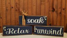 Primitive Wood Signs, Rustic Signs, Primitive Mason Jars, Bath Sign, Backyard Bar, Mason Jar Centerpieces, Wood Bathroom, Outdoor Signs, Holiday Time