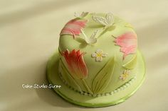 Tulip Cake by kururu705, via Flickr