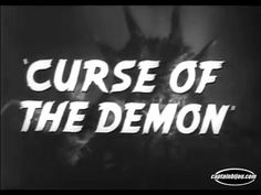 1958 CURSE OF THE DEMON TRAILER DANA ANDREWS