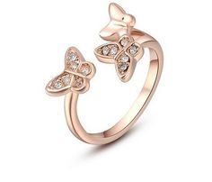 >> Click to Buy << Timlee  Classic  Crystals Sample Sales Rose Grace Novel Butterfly Ring Jewelry Party OFF2010289190 #Affiliate