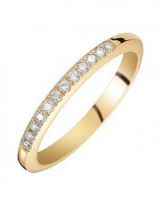 Alliance de mariage en or jaune et diamants - L'alliancier