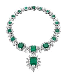 Grand Duchess Vladimir Necklace. (That is correct, however it is named after the grand duchess Vladimir due to that several emeralds in the necklace originally belonged to her. I believe this necklace and the pendant/brooch were gifts from Richard Burton to his wife Elizabeth Taylor.