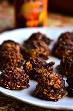 No bake, no flour cookies with oatmeal and pumpkin! ReluctantEntertainer.com