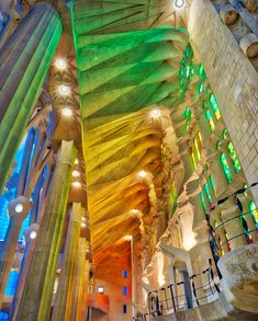 Inside The Sagrada Familia Antoni Gaudi, Around The Worlds, All Over The World, Cathedral Church, Houses Of The Holy, Europe Europe, Holi, Journey, Garden Design