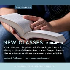 Care and Support classes are kicking off January 19th!
