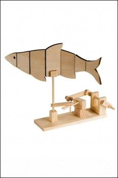 FOR CHRISTMAS!!! Fish - Mechanical Wooden automata Kit