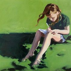 """The artist"" - Brandi Bowman This reminds me of MY little girl  - always with pencils and paper to draw with : )"
