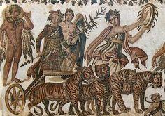 Roman Mosaic. Triumph of Bacchus. Sousse, Tunisia #mosaic #roman