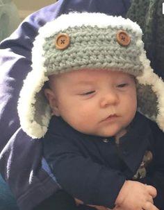 Aviador sombrero bebé recién nacido Niño foto prop sombrero Bebés Niños  Recién Nacidos bad6f7efbe9