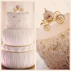 Today's Wedding Cake Wednesday is fit for a princess!  #Cinderella #cake #coach