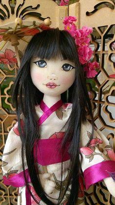 Bonecas de pano.  Japonesas.  Soraia Flores